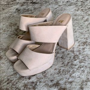 Suede heels. Perfect with any dress or jeans